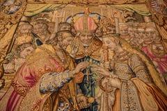 Tapijt die het Huwelijk van de Koning tonen in München Residenz - München, Kiem Royalty-vrije Stock Foto's