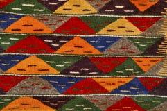 Tapijt in het land van Marokko stock afbeelding