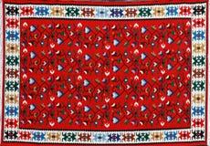 Tapijt met etnisch patroon stock afbeelding
