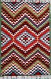 Tapijt met etnisch patroon royalty-vrije stock foto