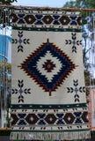 Tapijt met etnisch patroon royalty-vrije stock afbeelding