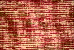 Tapijt met origineel patroon, gele en rode backg Stock Afbeeldingen