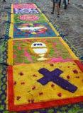 Tapijten om heilige week, El Salvador te vieren Stock Afbeelding