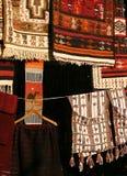 Tapijten in Souk Libië Royalty-vrije Stock Afbeelding