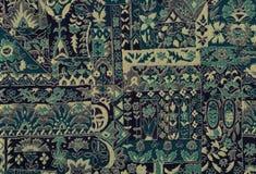 Tapijtwerk blauw textielpatroon Royalty-vrije Stock Afbeelding