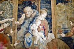 Tapijtwerk met Jesus, de Musea van Vatikaan Royalty-vrije Stock Fotografie