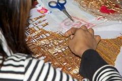 Tapijtwerk Myanmar royalty-vrije stock afbeelding