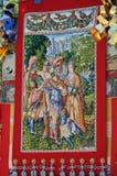 Tapijtwerk van Gion-festivalvlotter, Kyoto Japan Royalty-vrije Stock Afbeeldingen