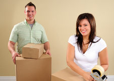 Taping Up Boxes Stock Photo