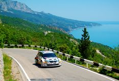 Tapio Suominen on the IRC PRIME Yalta Rally 2011 Royalty Free Stock Photography