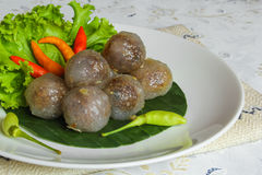 Tapioca balls. With pork filling Royalty Free Stock Image