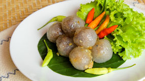 Tapioca balls with pork filling Royalty Free Stock Photography