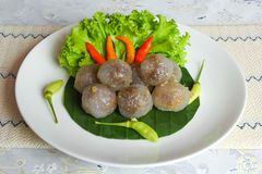 Tapioca balls with pork filling Stock Images