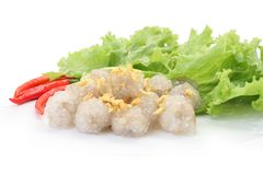 Tapioca balls with pork filling. Stock Images