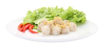 Tapioca balls with pork filling. Royalty Free Stock Photos