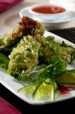 Tapioca battered shrimp Stock Photo