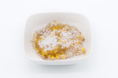 Tapioca with corn and coconut milk [Thai dessert ] royalty free stock image