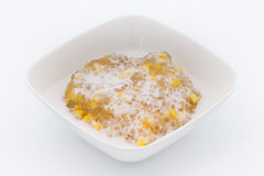 Tapioca with corn and coconut milk [Thai dessert ] stock images