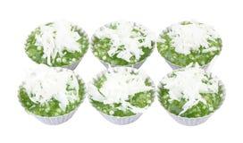 Tapioca pearl pudding sweet. Coconut milk Royalty Free Stock Photos