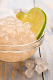 Tapioca pearls with lime. bubble tea Royalty Free Stock Photo