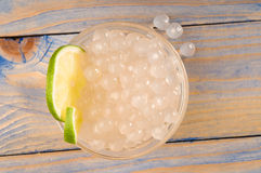 Tapioca Pearls With Lime. Bubble Tea Royalty Free Stock Images