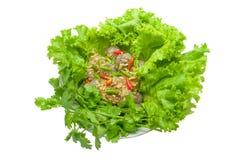 Tapioca pork-Saku Sai Moo. Tapioca pork  with side dish Royalty Free Stock Image