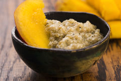 Tapioca pudding. With slices of mango Royalty Free Stock Images