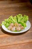 tapiocaballen met varkensvlees het vullen Royalty-vrije Stock Afbeelding