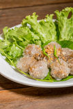 tapiocaballen met varkensvlees het vullen Royalty-vrije Stock Afbeeldingen