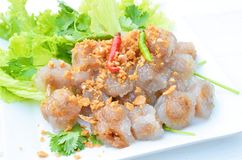 tapiocaballen met varkensvlees het vullen Stock Foto's