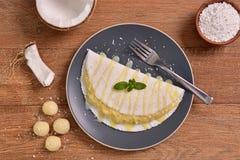 Tapioka gefüllt mit Kokosnusscreme Stockbild