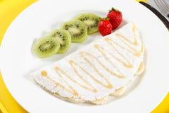 Tapioka mit Früchten Lizenzfreie Stockfotos