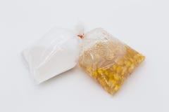 Tapioka mit Mais und Kokonussmilch [siamesischer Nachtisch] Lizenzfreies Stockbild
