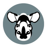 Tapir head  face vector illustration Royalty Free Stock Photography
