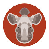 Tapir head  face vector illustration Royalty Free Stock Images