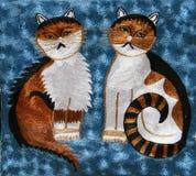 Tapis avec des chats Photo libre de droits