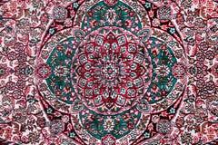 Tapis avec l'ornement floral Images libres de droits
