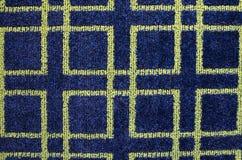 Tapis bleu et vert de modèle Photographie stock libre de droits