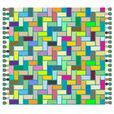 Tapis coloré Illustration de Vecteur