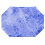 Tapis d'endroit bleu de marbre de cuisine photographie stock libre de droits