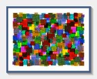 Tapis de fibre chiné par résumé Image stock