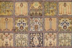 Tapis de laine et de soie de conception classique Photos libres de droits
