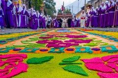 Tapis de Pâques à l'Antigua Guatemala Image stock