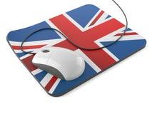 Tapis de souris BRITANNIQUE avec la souris d'ordinateur illustration de vecteur