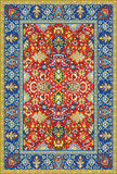 Tapis détaillé persan de vecteur Images libres de droits