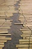 Tapis en bambou Images libres de droits