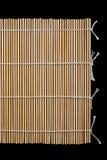 Tapis en bambou japonais de sushi Photographie stock
