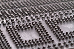Tapis en caoutchouc de plancher de plan rapproché Image libre de droits