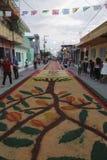 Tapis et religion au Mexique Images libres de droits