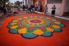 Tapis et religion au Mexique Images stock